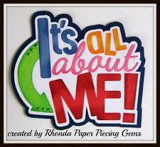 ALL ABOUT ME GIRL title paper piecing  Premade Scrapbook Pages DIE CUT by Rhonda