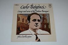 Carlo Bergonzi~Songs and Arias of the Italian Baroque~Felix Lavilla~UK IMPORT
