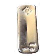 100 oz Johnson Matthey JM .9999 Fine Silver Bullion Bar