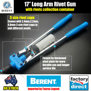 "17"" Heavy Duty Long Arm Hand Plier Riveter Pop Rivet Plier Gun Aluminium Head"