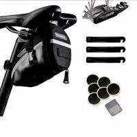 Bicycle Repair Tool MTB Repair Kit with Saddle Bag  Puncture Tire Chain 16 In 1