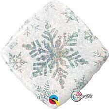 "Snowflake Spakles White  Frozen  Winter Balloon Decorations  Size 18"""