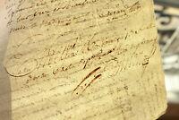 1792 manuscript document THICK FREEMASON SIGNATURE RARE ORIGINAL 2P ready to FRA