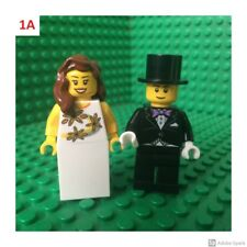 Lego Bride and Groom Wedding Cake Topper City Town Decorations Blonde Brunette