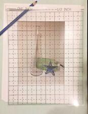 "Transparent Film Grid / Art Drawing Grid / Artist / Quilting / 1"" & 1/2"" square"