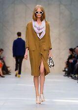 $2,095 Burberry Prorsum 8 10 42 Camel Silk Soft Tailored Coat Women Lady NWT