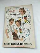 Vintage 1940 Aunt Ellen's Complete Art Needlework Catalog #8 Condition Good