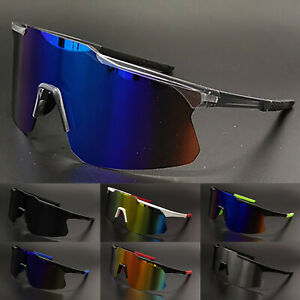 Outdoor Sports Goggles Men's Women Cycling Sunglasses Mirrored Shield Glasses