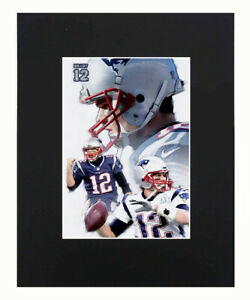 New England Patriots Tom Brady NFL Football Print Picture Art Poster Matted 8x10