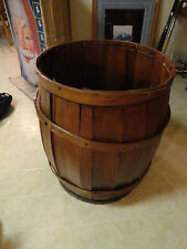 Vintage Wooden Keg Barrel with extra table top for table