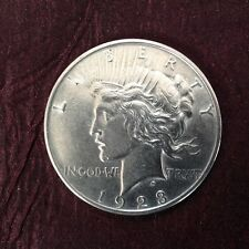1923  Peace silver dollar near mint almost uncirculated