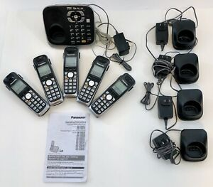 PANASONIC KX-TGA652 DECT 6.0 5 Handsets with Charging Docks with KX-TG6541 Base