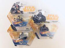 Star wars Battle Rollers Hot Wheels Set Darth vader Kylo Ren Poe Dameron