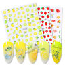 3D Nail Stickers Nail Art Decoration Colorful Fruit Summer Design Decal Decors