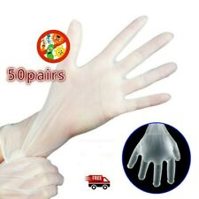 100PCS Disposable Gloves Medical Latex PVC Anti Virus Dust Pollution Gloves
