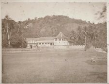 Albumen Print Temple of Buddha Sacred Tooth Ceylon India 1870 Sri Lanka Photo