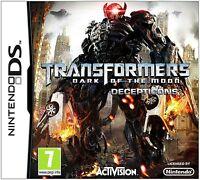 Transformers: Dark of the Moon - Decepticons (Nintendo DS) DSi XL New