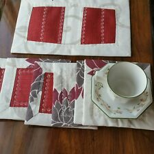 Set of cup pads for a coffee or tea table
