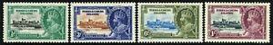 SG 187-190 TURKS & CAICOS ISLANDS 1935 SILVER JUBILEE SET - MOUNTED MINT