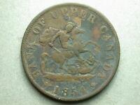 Canada Upper 1854 Half Penny Token