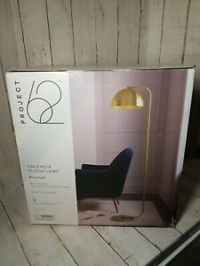 Project 62 Valencia Floor Lamp Brass MCM Reading Accent Light