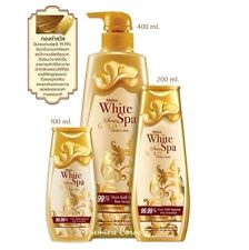 200 ml. MISTINE White Spa Swiss Gold Serum Lotion 99.99% Gold Face & Body Lotion