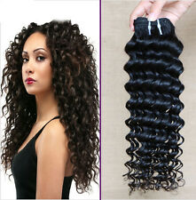 25cm-66cm EXTENSIONS DE CHEVEUX Curly Deep Wave Human Hair 50g