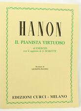Hanon il Pianista Virtuoso 60 Esercizi - revisione Piccioli EDIZIONI CURCI
