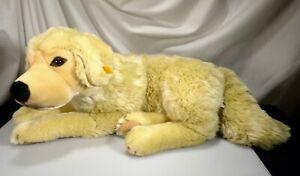 """Steiff Large Golden Retriever Soft Plush Dog 19"""" New #668838 - 56485"""