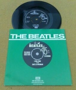 "BEATLES  ""  I FEEL FINE  "" SUPERB NMINT UK 1976 PRESS IN PICTURE SLEEVE"