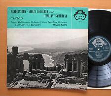 ACL 4 Campoli Mendelssohn Violin Concerto Italian Symphony Beinum Rossi Decca EX
