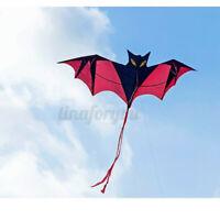 200cm Fledermaus Drachen Fliegen Windsack Neuheit Spielzeug Außen- Aktivität! I
