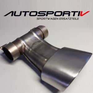 Porsche 981 Boxster 2,7 Auspuff Endrohr tail pipe 98111126100 TOPZUSTAND