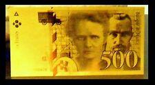 """★★★ BILLET POLYMER  """" OR """" DU 500 FRANCS P. ET M. CURIE ● DESTOCKAGE ★★ REF5"""
