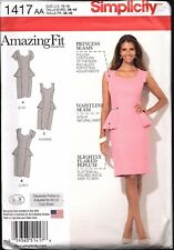Simplicity Pattern 1417 Ladies Dress Additional Pieces for Individual Fit Types