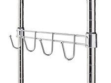 "18"" Wire Shelf Sidebar with 4 Hooks - Zinc"