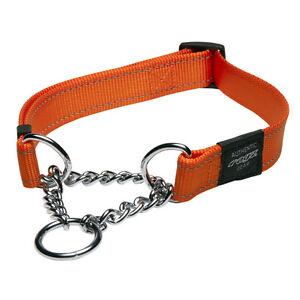 Rogz Dog Training Collar Half Check - Lumberjack X-Large fits 19-27in  - Orange