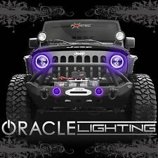 2007-2017 Jeep Wrangler JK ORACLE LED Headlight + FogLight Halo Kit Combo Purple