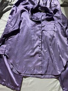 Vintage Secret Treasures Satin Pajama Set 2 Piece Purple
