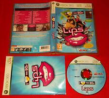 LIPS I LOVE THE 80s XBOX 360 80 Versione Italiana 1ª Edizione ○ COMPLETO - FG
