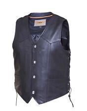 331 Tall Cut Men's Leather Vest - Side Lace