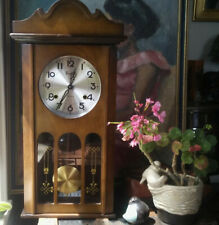 """Spectacular Centurion """"35-Day"""" Wall/Mantel Clock Chime Freshly Serviced & Oiled"""