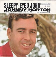 "Johnny Horton ""Sleepy-Eyed John"" 1961 Record (VG+/NM) & Picture Sleeve (NM)"