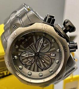 New Men Invicta Venom 54mm SS Gunmetal Dail & Bezel Swiss MVT Chronograph Watch!