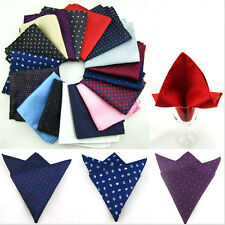 Italy Lot 5 Pcs Silk Handkerchief Mens Pocket Square Paisley Polka Dots Wedding