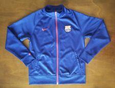 Nike Barcelona FC Training Full Zip Track Jacket Men's Small Youth XL Navy Blue