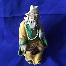 Antique / Vintage Chinese Pottery Polychrome Figurine