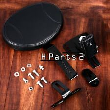 Black Plug-In Driver Backrest Kit For Harley Touring Street Glide Road 88-16