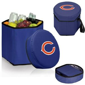 NFL Chicago Bears Bongo Insulated And Collapsible Cooler Padded Lidded Seat