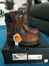 """NEW! Timberland PRO 8"""" Pit Boss Steel Toe Brown Work Boots 40069 Size 7.5M"""